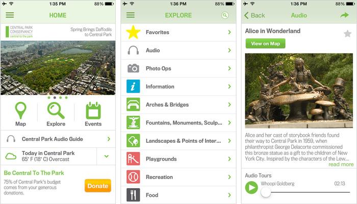 New York City Central Park official app