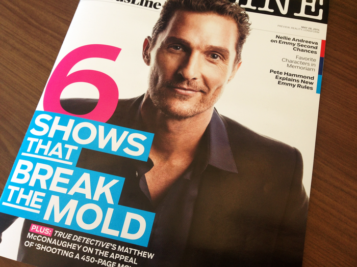 AwardsLine, Emmy 2014, Issues 1–3 1