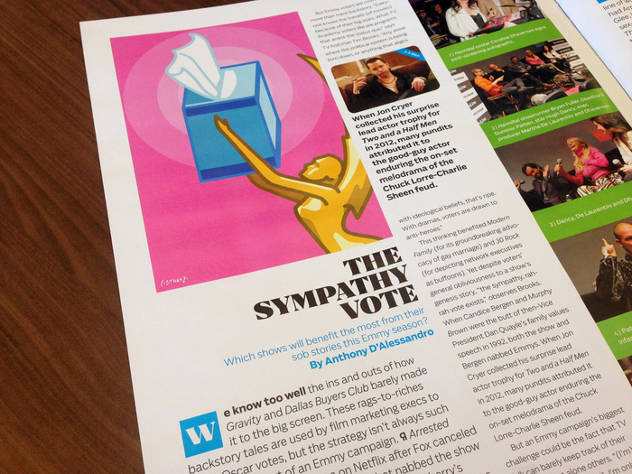AwardsLine, Emmy 2014, Issues 1–3 4