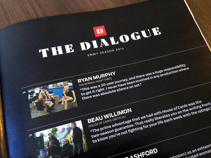 AwardsLine, Emmy 2014, Issues 1–3 6