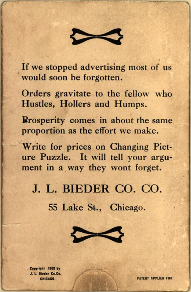 "J. L. Bieder Co. ""Advertising Novelties"" 2"