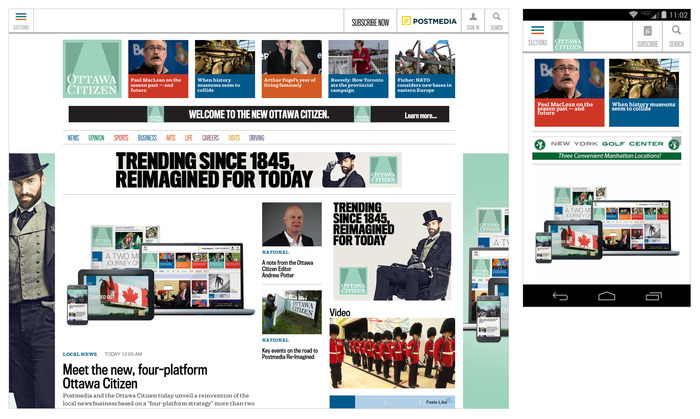 ottawacitizen.com is now responsive, working on every device from smartphone to desktop.