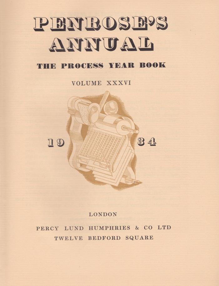 Penrose's Annual, 1934