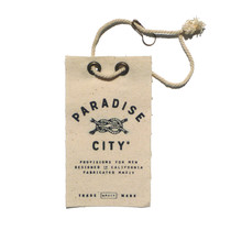 Paradise City hangtags and labels