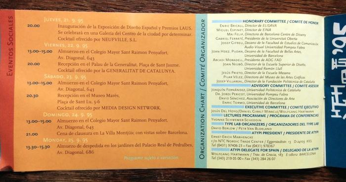 ATypI 1995 Barcelona program 5