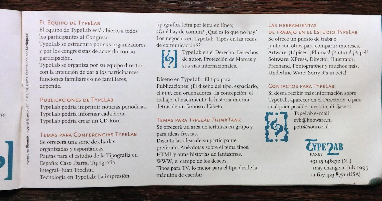 Atypi 1995 Barcelona Program Fonts In Use