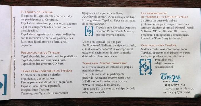 ATypI 1995 Barcelona program 8