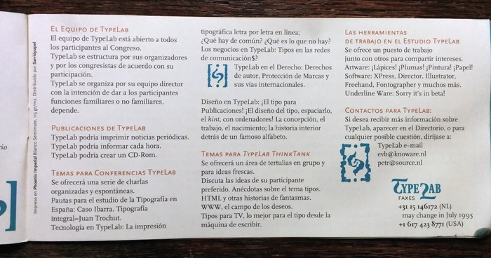ATypI 1995 Barcelona program 8