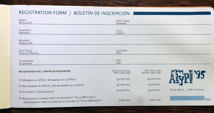 ATypI 1995 Barcelona program 11