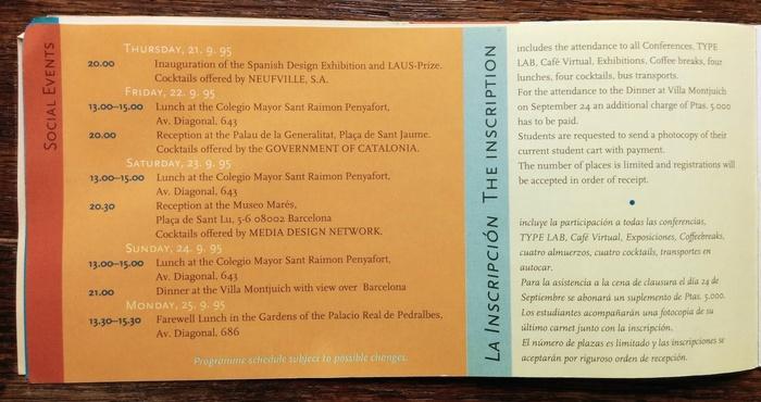 ATypI 1995 Barcelona program 12