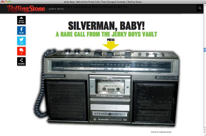 Jerky Boys on Rolling Stone 2