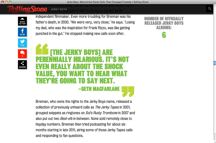 Jerky Boys on Rolling Stone 3