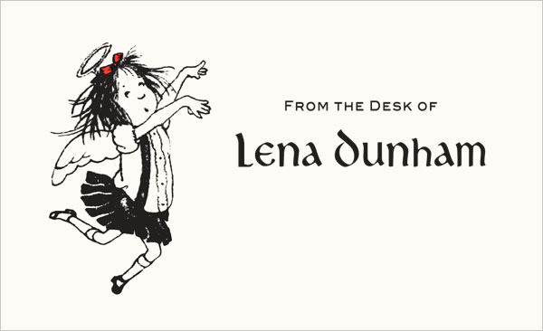 Lena Dunham Letterhead 1
