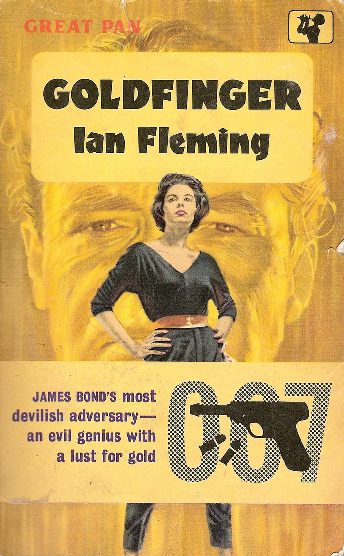 Goldfinger book cover, Great Pan edition