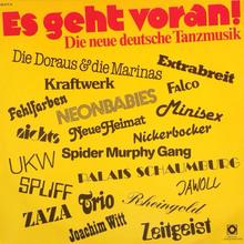 <cite>Es geht voran! Die neue deutsche Tanzmusik </cite>album art