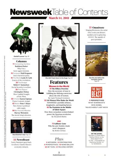 Newsweek redesign, Mar 2011 1