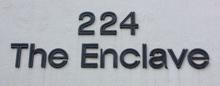 The Enclave residential condominium sign
