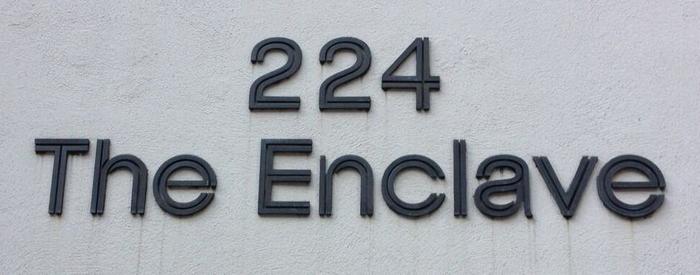 The Enclave residential condominium sign