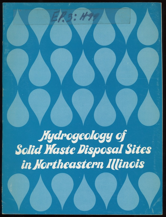 Hydrogeology of Solid Waste Disposal Sites in Northeastern Illinois