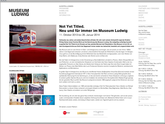 Museum Ludwig website 1