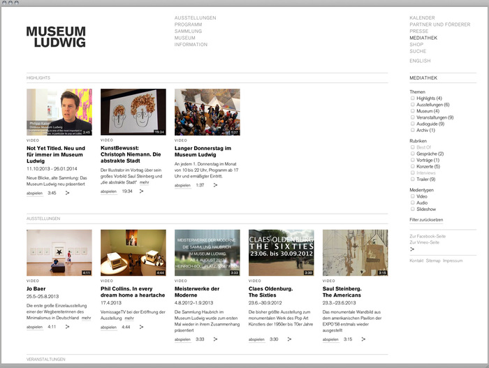 Museum Ludwig website 4