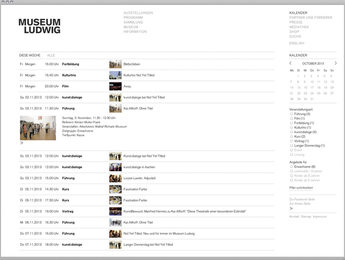 Museum Ludwig website 5