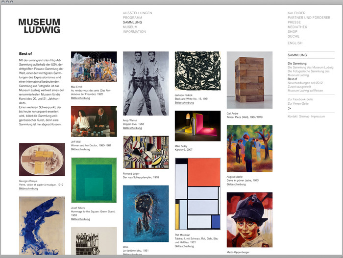 Museum Ludwig website 6