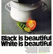 "Dansk Købenstyle ad: ""Black is beautiful. White is beautiful."""