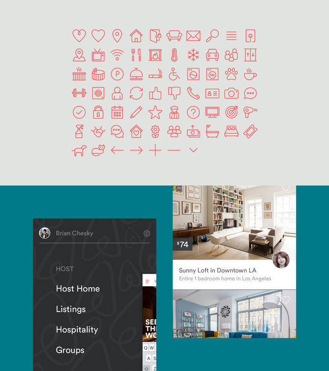 Airbnb identity, website, app (2014 redesign) 16