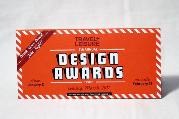 Travel + Leisure Design Awards 2011 Mailer 4