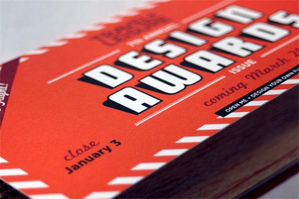 Travel + Leisure Design Awards 2011 Mailer 5