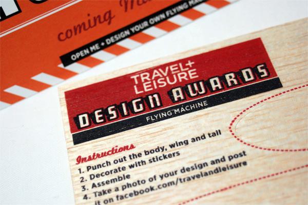 Travel + Leisure Design Awards 2011 Mailer 2