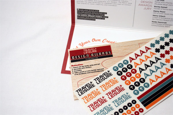 Travel + Leisure Design Awards 2011 Mailer 1
