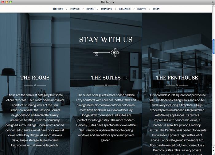 The Battery website 2