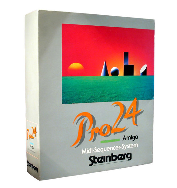 """The Pro24 (1986) was available for Atari ST andCommodore Amiga. It offered """"24 MIDI tracks, professional scoring, quantization […] and editing for MIDI parameters like Velocity."""""""