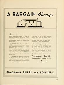 "Taylor-Made Rule Co. ad: ""A Bargain Always"""