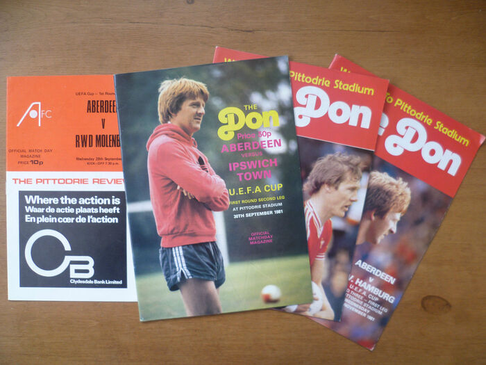 UEFA Aberdeen Programmes 3