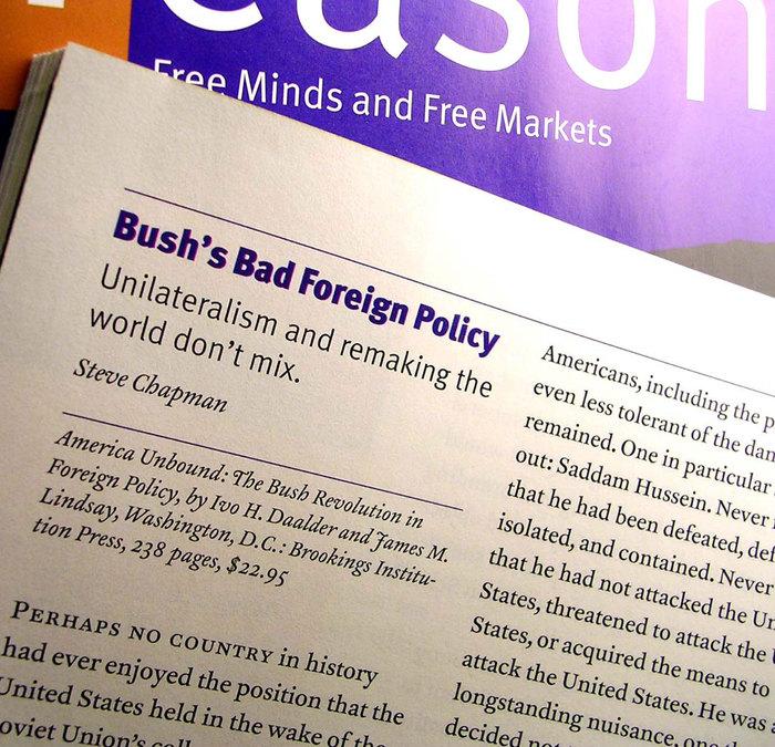 Reason Magazine, Dec. 2001 – Aug. 03 1