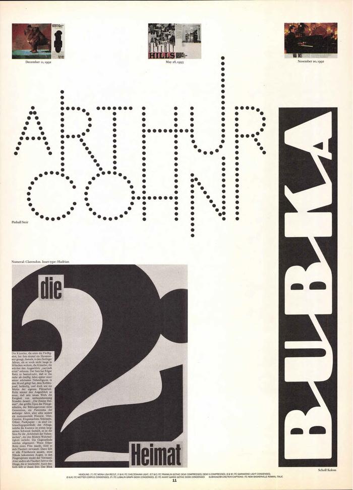 Frankfurter Allgemeine Magazin feature spreads, 1992–93 2