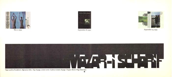 Frankfurter Allgemeine Magazin feature spreads, 1992–93 4