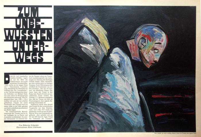 Frankfurter Allgemeine Magazin feature spreads, 1980s 1