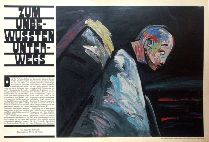 Frankfurter Allgemeine Magazin feature spreads, 1980s 1