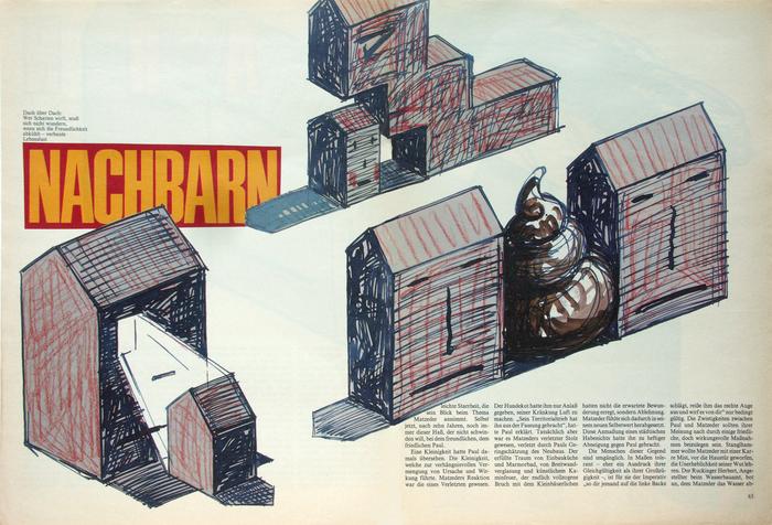 Frankfurter Allgemeine Magazin feature spreads, 1980s 5