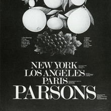 Parsons School of Design catalogs and poster, 1982–84