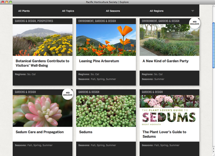 Pacific Horticulture website 2
