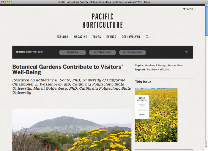Pacific Horticulture website 3