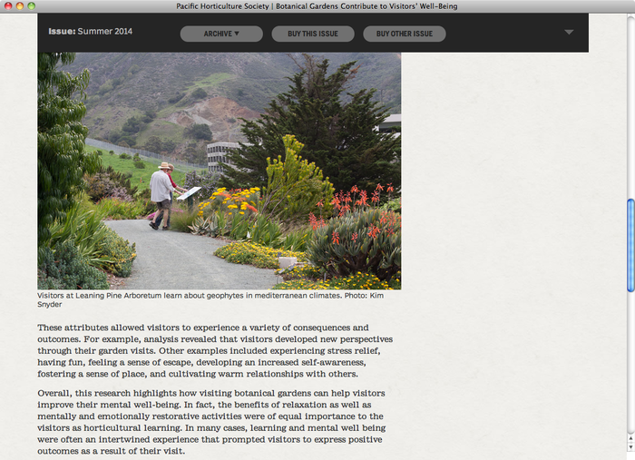 Pacific Horticulture website 4