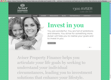 Aviser Property Finance website