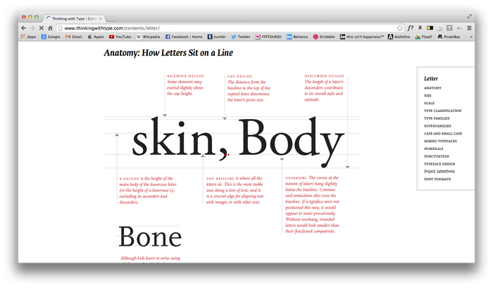 Thinking With Type Website 1