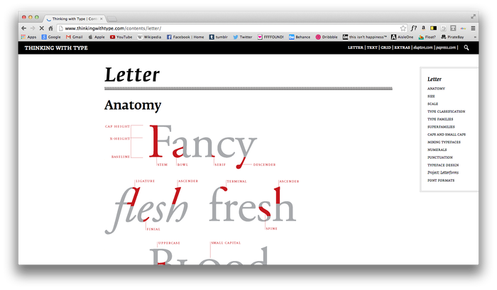 Thinking With Type website 2